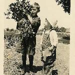 Edward Jr and Robert Sr, Copak 1924
